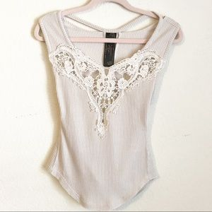 3/$20 Free People New Romantiks Cut Out Lace Top